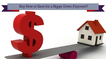 Should I buy a home now or save for a bigger down payment?