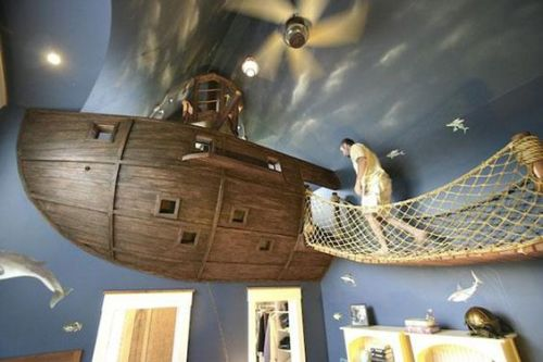 pirate ship in my sons room