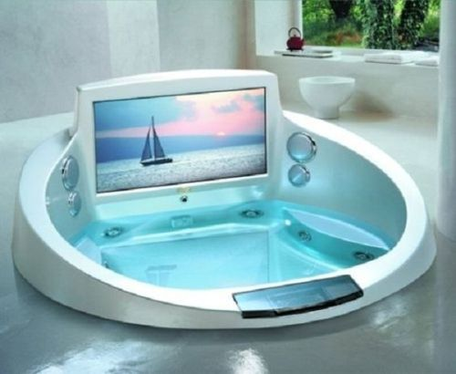 tv in my bathtub